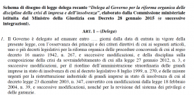Riforma Commissione Rordorf procedure concorsuali 2015 - 2 - Studio Corbello